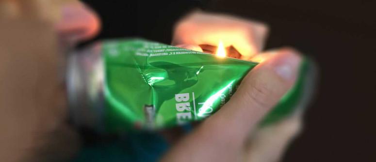 Fumare erba da una lattina in alluminio: una cattiva idea?