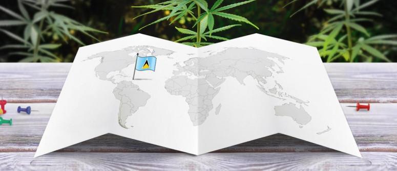 Stato legale della cannabis a Santa Lucia