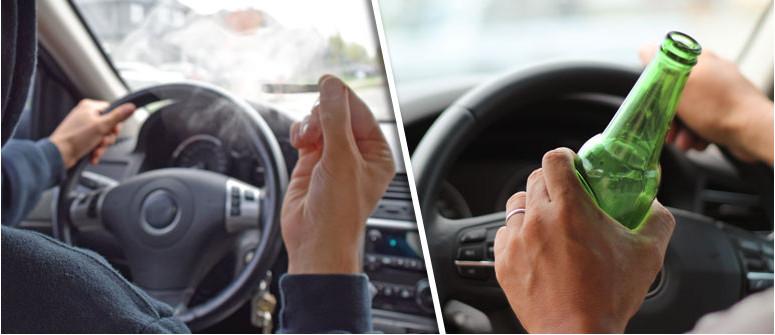 Gli effetti di cannabis e alcol sulla guida a confronto