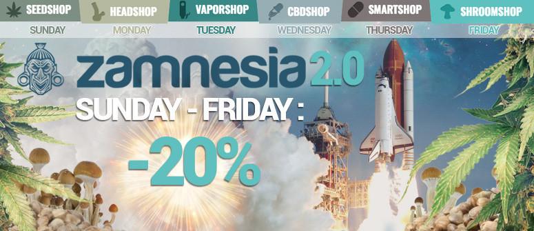 Zamnesia lancia 'ZAMNESIA 2.0' - Grandi sconti!