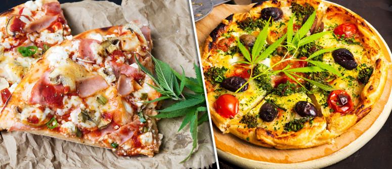 Ricetta della pizza aromatizzata alla cannabis