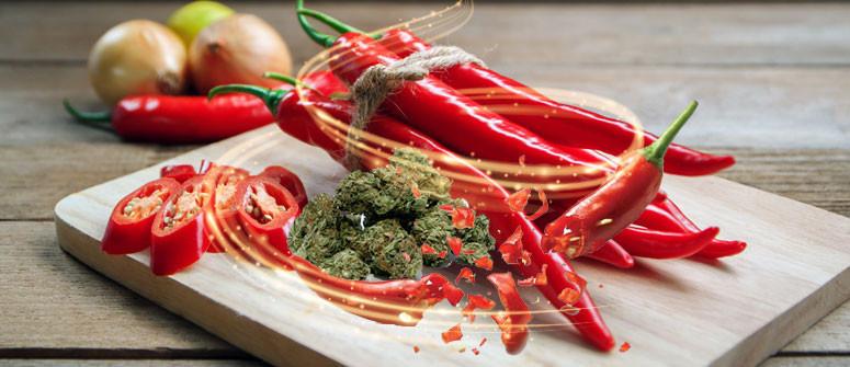 Combinando Peperoncino e Cannabis Si Può Alleviare il Mal di Stomaco